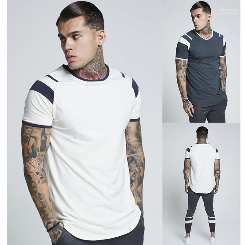 Yaz 19ss Yeni Çizgili Tasarım Günlük Sade Tees AB BOYUT erkek tasarımcı t shirt