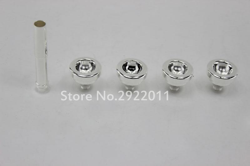 5 PCS / LOT Trumpet Mouthpiece Size 3C 5C 7C 1.5C Trompete Nozzle Set Silver Plated High Quality Trumpet Accessories Free Shipping