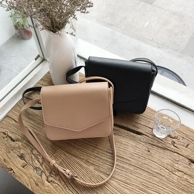 2019 New Kind of Small Korean Temperament Skew Port Wind Retro Square Bag with Simple Girls'Bag