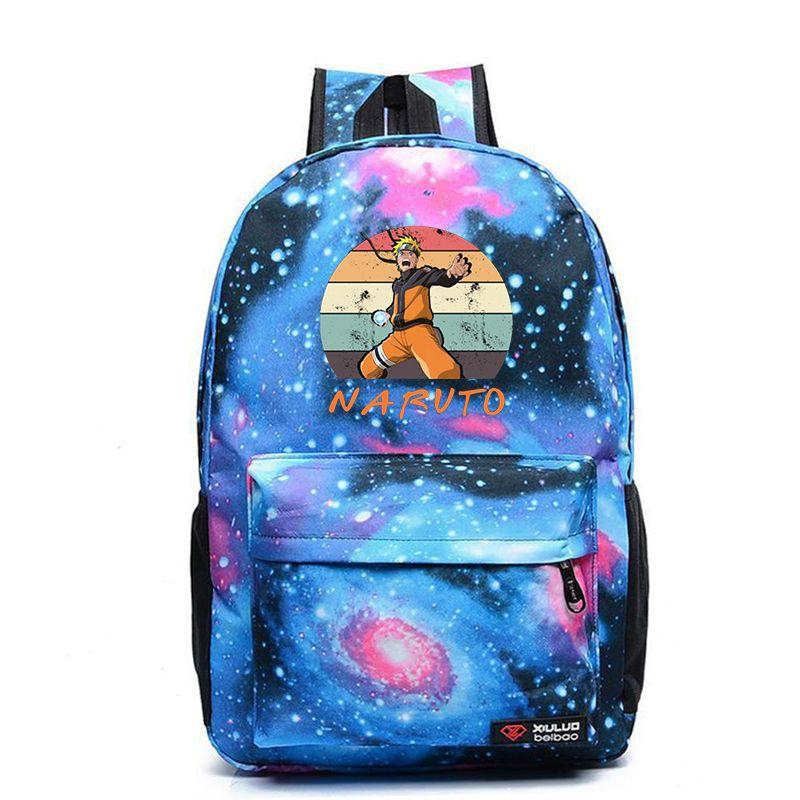 Bolsos de escuela Galaxy Mochila animado de Naruto ITACHI Mochila para chicas adolescentes Mujeres Hombres Mochila bolsas de viaje Bookbag portátil