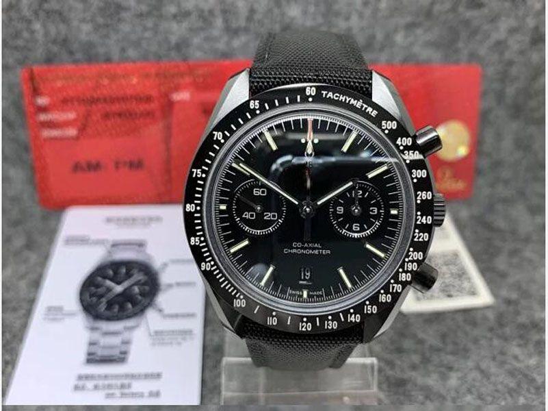 Престижная лучшего качество OM Factory V2 стало 9300 Движением автоматических часов супер Dark керамического серп наручного швейцарские часы черных