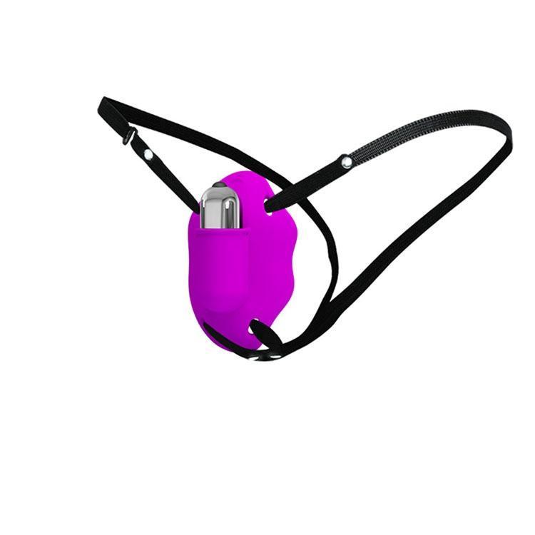 Baile Tempo limitato Juguetes Sexuales giocattolo del sesso del prodotto (bi-014.153), strap-on vibrazioni (7 marce), TPR Materiale, 3 LR44 Button Cells