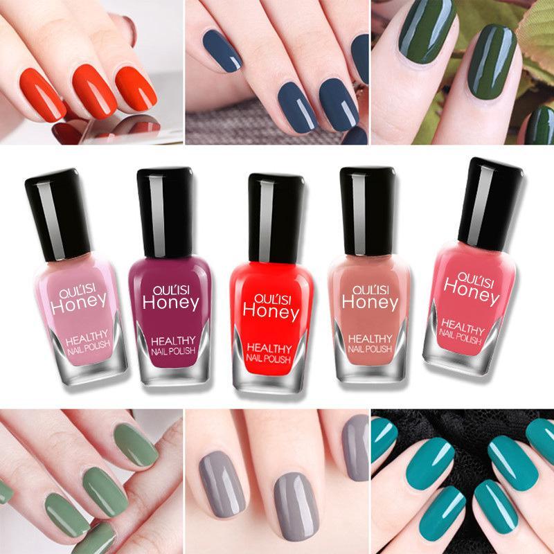 20color alta calidad persistente esmalte de uñas de agua Pelar y lagrimeo esmalte de uñas de color atractivo a prueba de agua