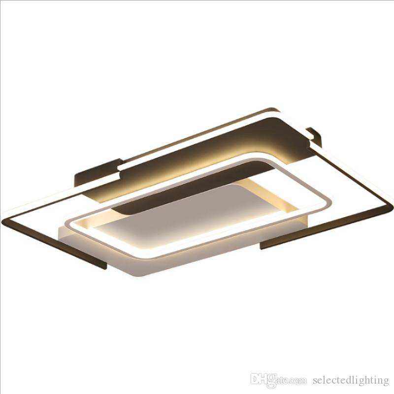 Dimming Led Bedroom Light Plafond Lamp Ceiling Lighting in Metal Frame and Acrylic Lampshade for Bedroom Foyer Living Room Lightings