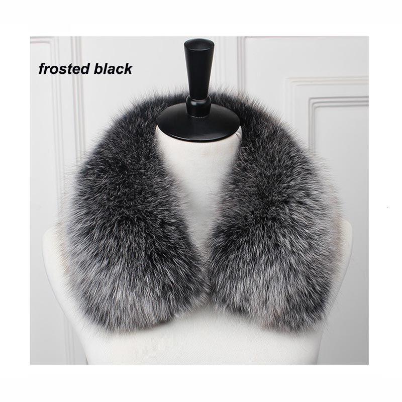 Free Shipping Real Fox Fur Collar Women 100% Natural Fox Fur Scarf Winter Neck Warmer Jacket Fur Collar Short style SH191029