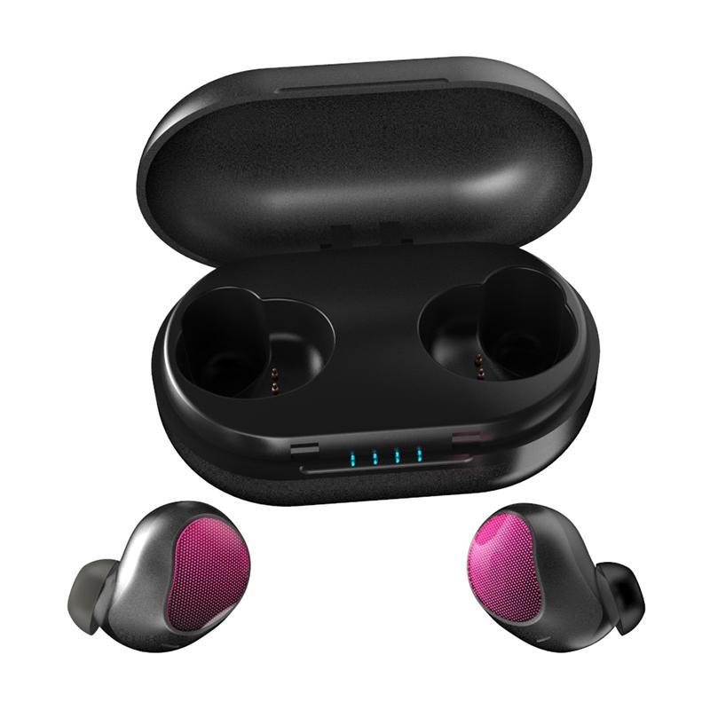 سماعات أذن Bluetooth TWS Bluetooth 5.0 اللاسلكية مع ميكروفون سماعات ستيريو ثلاثية الأبعاد في الأذن سماعات رأس رياضية مزودة بسماعات رأسية