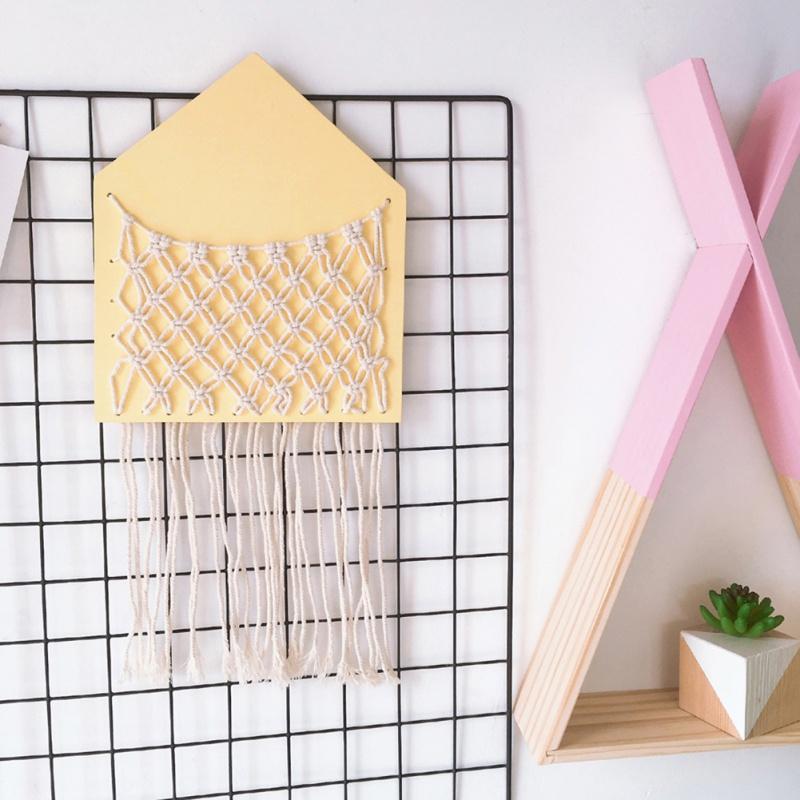 Armazenamento bonito que pendura Bag Wall-montado para sala de estar portátil Crianças Quarto Decoração para Crianças Wind Chimes Pendurado Decor3