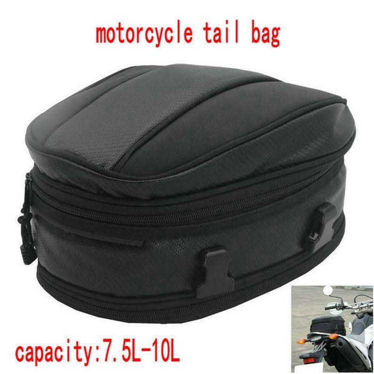 ventas calientes Volero bolsas de cola de la motocicleta de la versión 9018 de los asientos bolsas herramienta asiento trasero de la moto mochila moto cubierta impermeable 7.5-10L