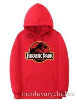 Мужское Jurassic Park скейтборд Толстовка с капюшоном вскользь Hiphop Street Толстовка Дизайнера одеждой Tops