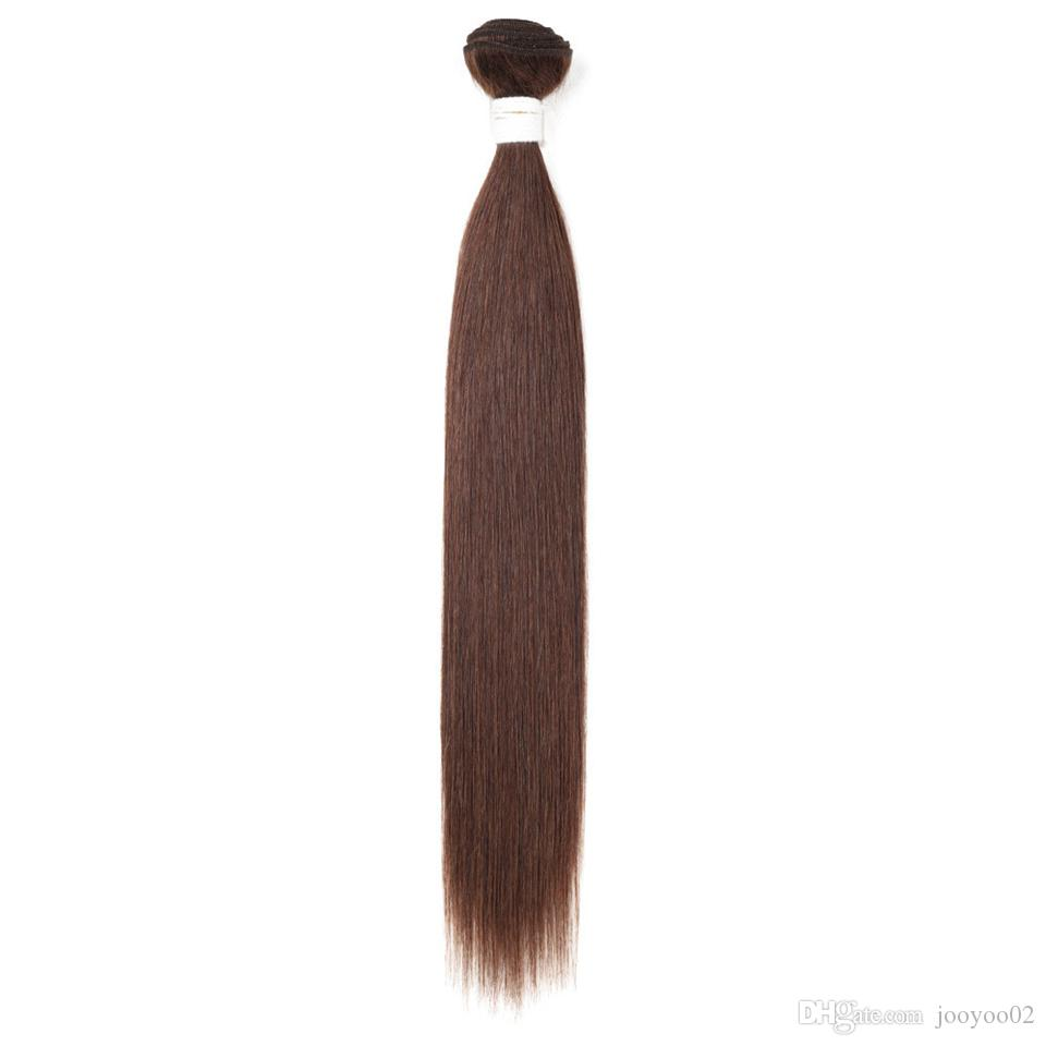 Hot Sale Fashion Temperament Smooth 18inch Real Human Hair Long Straight Female Solid Color Hair Ponytail
