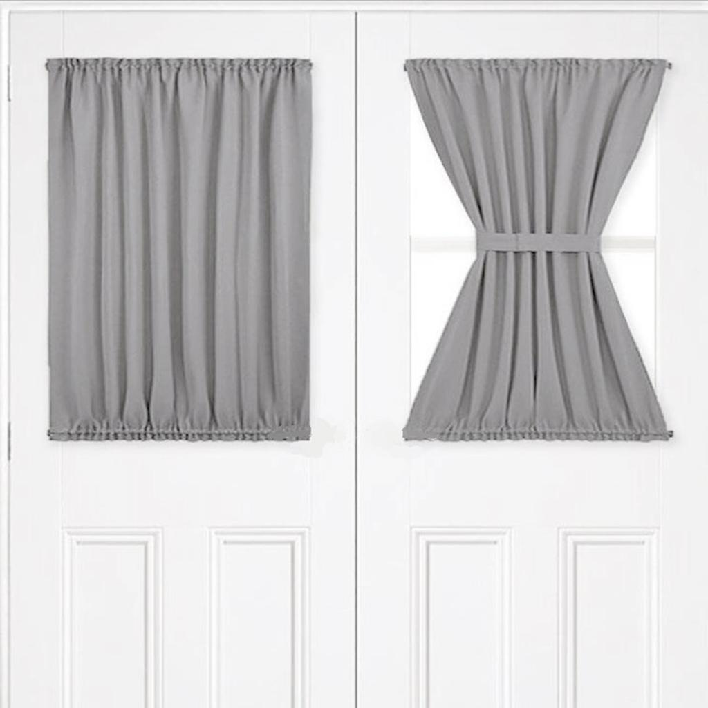 2020 Light Gray Front Blackout French Door Curtain Panel For Patio With 1 Bonus Tiebacks 54x40inch From Gralara 25 6 Dhgate Com