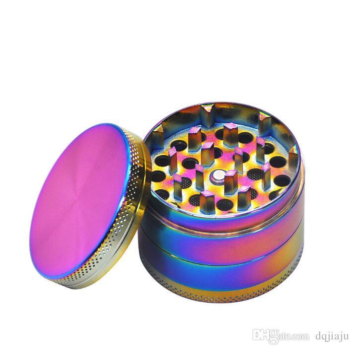 Yeni çap 50mm parlak çinko alaşım taşlama makinesi yaratıcı taşınabilir çakmak metal taşlama makinesi ücretsiz kargo