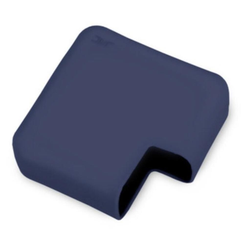 Funda protectora de silicona negra / azul Protector de accesorios para laptop para MacBook Air Pro Retina 11 12 13 15 Funda para Mac Book Coque