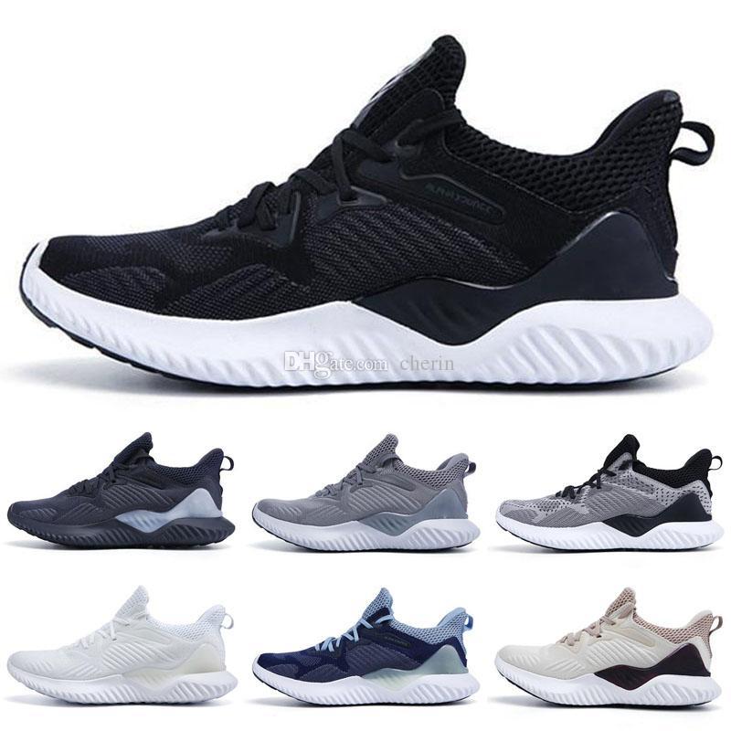 Yeni 2019 ALPHABOUNCE ÖTESİNDE M Erkek Ayakkabı Erkek Beyaz Siyah Kırmızı Tasarımcı marka Run Spor Eğitmeni Sneakers Kadınlar Man Ayakkabı Koşu