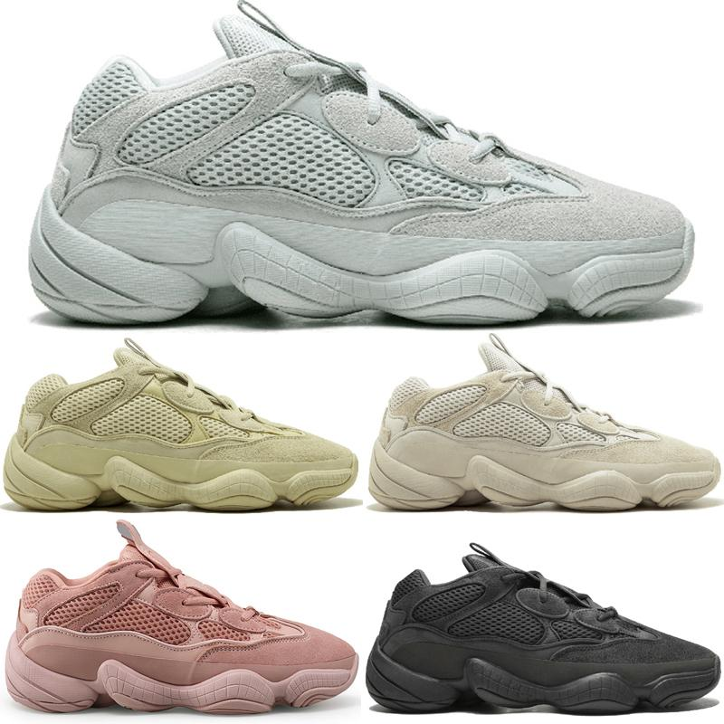 Newes Kanye West 500 Desert Rat Blush 500s Salt Super Moon Yellow 3m Utility Black Zapatillas para hombre para hombre Mujer Zapatillas deportivas Diseñador