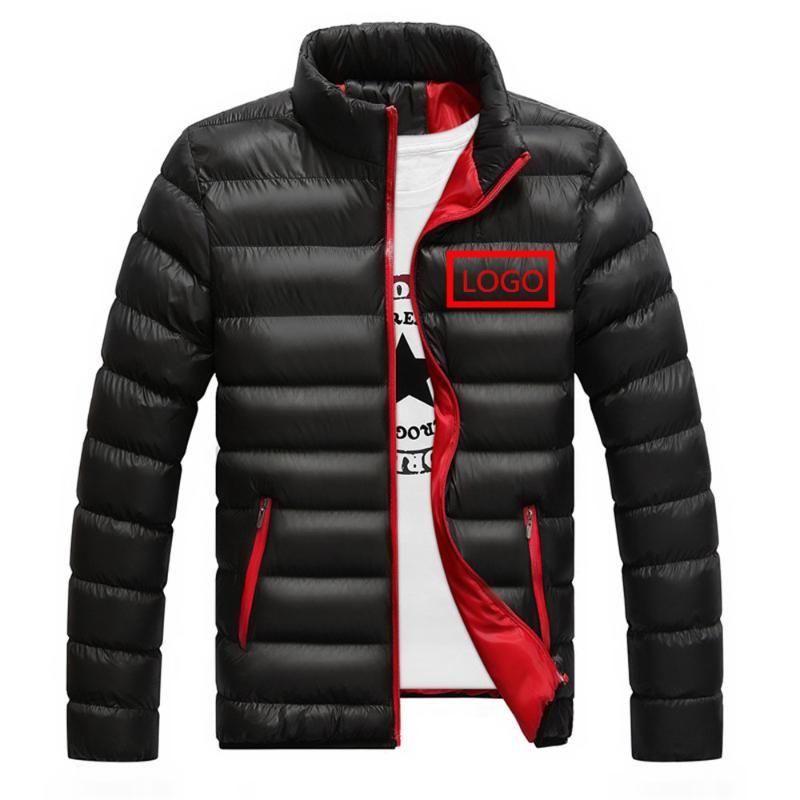 Los hombres de terciopelo de encargo del coche de pato macho invierno chándal de la chaqueta del chaleco del algodón Hombre ocasional desgaste al aire libre calientes de la nieve de la cremallera Deporte Coats