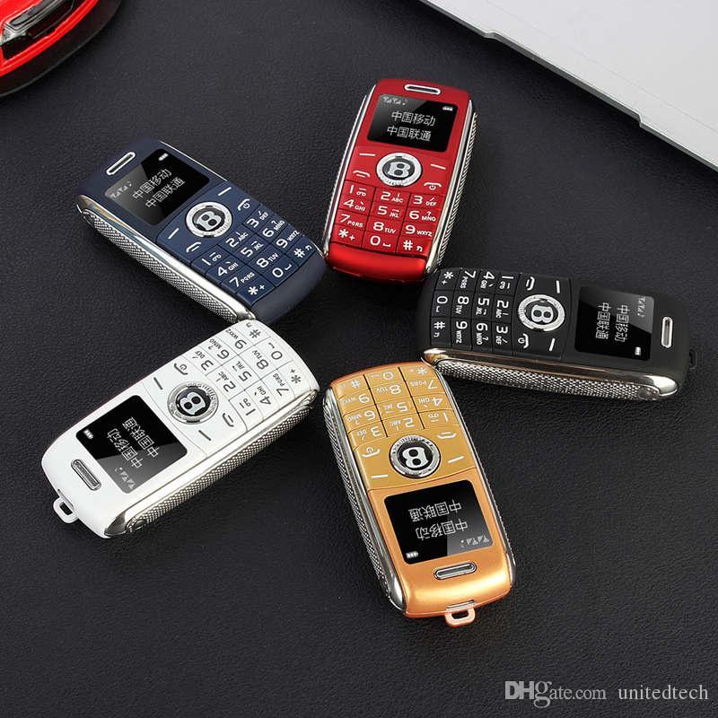 Freigeschaltete niedliche Mini-Auto-Schlüssel-Modell-Handys Luxus-Dual-SIM-Karte Magic Voice Bluetooth-Dialer MP3 One-Taste Aufnahme-Cartoon-Mobiltelefon