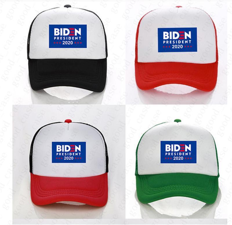 10PCS / BIDEN Presidente 2020 cappello della sfera RIDN Biden lettere Stampa Baseball Caps D6507 Unisex Mesh Patchwork Estate visiere Outdoor Sports