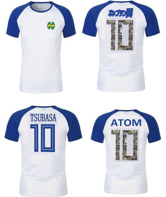 Asia size,Nice Gift Kid Men Camisetas De Futbol Football Kits 2020 Equipment Oliver Atom Captain Tsubasa Spain Chile Cotton soccer jerseys