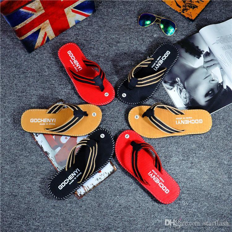 Pantofole leggere della pantofola della spiaggia degli uomini di estate Pantofole infradito piatte di svago di alta qualità comode del non-scivolo Q-512