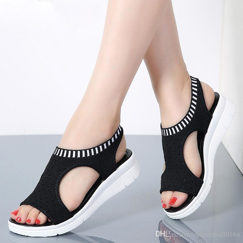 premium selection best size 7 Women Sandals 2019 New Female Shoes Woman Summer Wedge Comfortable ...