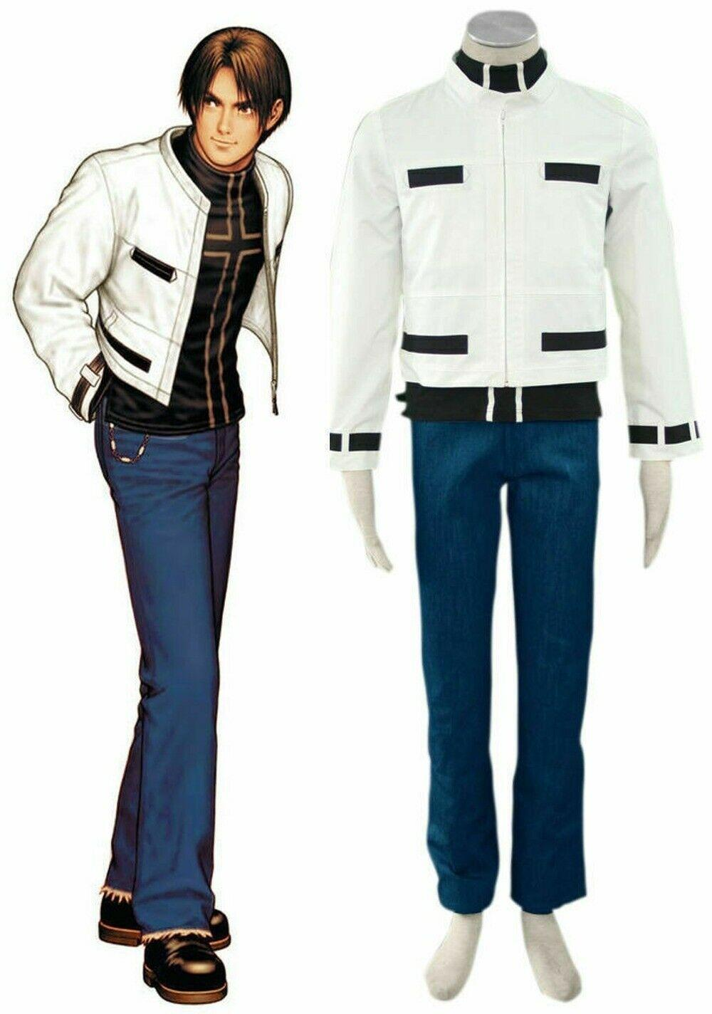 NEW The King of Fighters Kyo Kusanagi Boxer Cosplay Costume Full Set