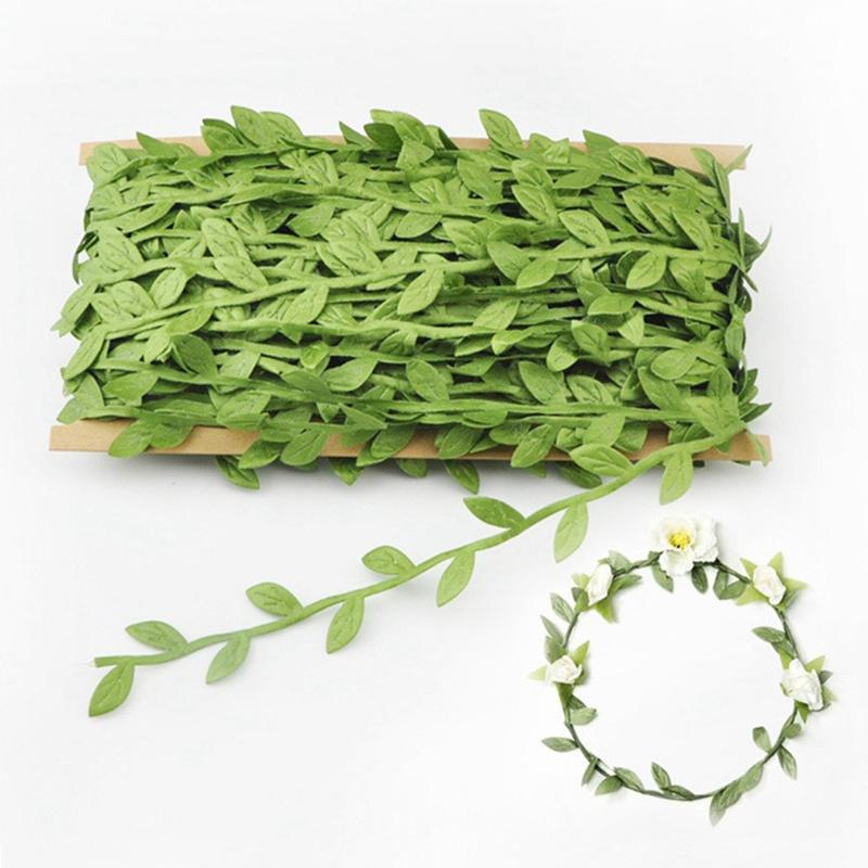 Fiore artificiale nuova simulazione Foglie fai da te accessori della decorazione Garland Green Leaf Cane a mano del partito Festival Decor