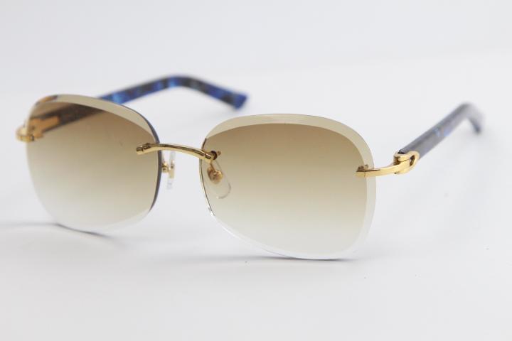 판매 금속 무테 판자 선글라스 Adumbral 고양이 눈 선글라스 패션 높은 품질 태양 안경 남성과 Femal 컷 위에 렌즈 핫