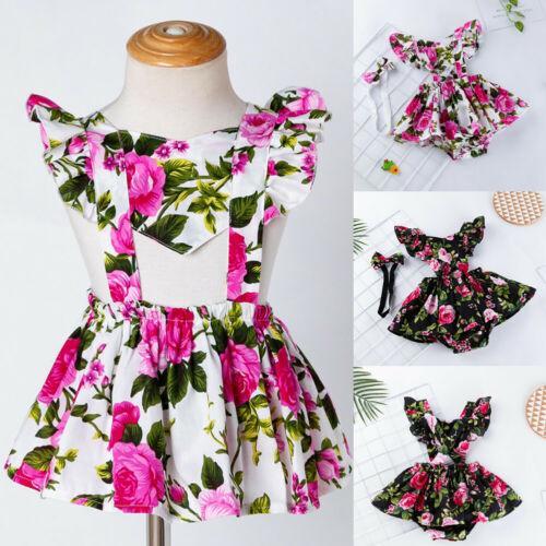 Yürüyor Bebek çiçek Kız bebekler Romper renkli bodysuit Elbise Kafa Kıyafetler Giyim Sunsuit Karikatür