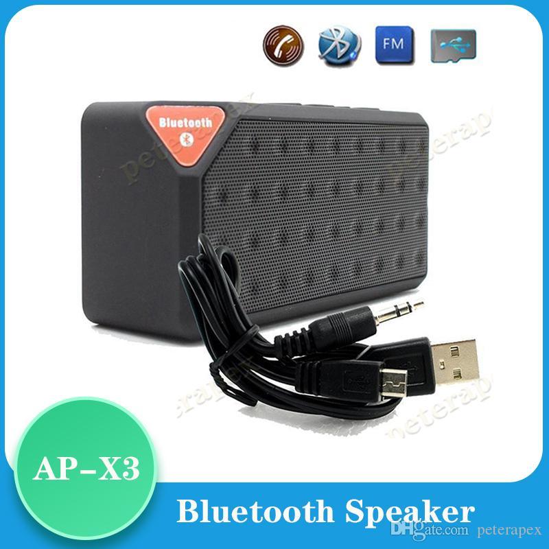 Wireless Bluetooth Speaker X3 Style USB TF FM portatile di musica della cassa di risonanza Subwoofer Altoparlanti con microfono caixa de som