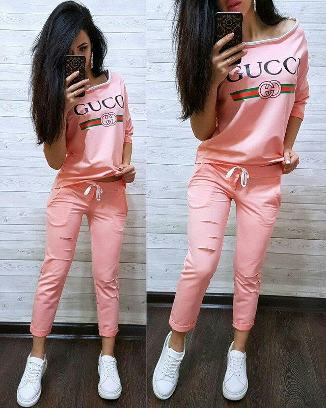 Women Two Piece Print Tracksuits Casual 2 Piece Set half Sleeve Tops and mid-calf pants Women sweatshirt Sport Outfit pink black sets