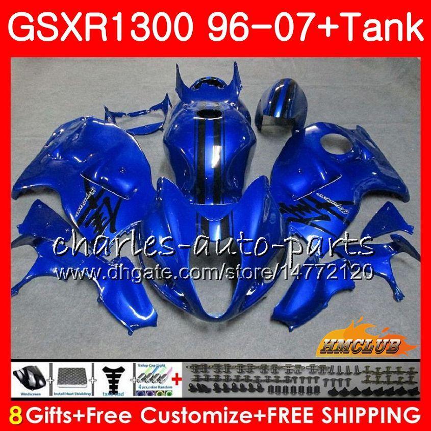 Kit per SUZUKI GSXR-1300 GSXR1300 Hayabusa 96 97 98 99 00 01 blu lucido 07 24HC.26 GSXR 1300 1996 1997 1998 1999 2000 2001 2001 2007