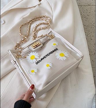 Прозрачная Мать и дочь сумка Женского 2020 корейской версия малого Волна Daisy плечо сумка