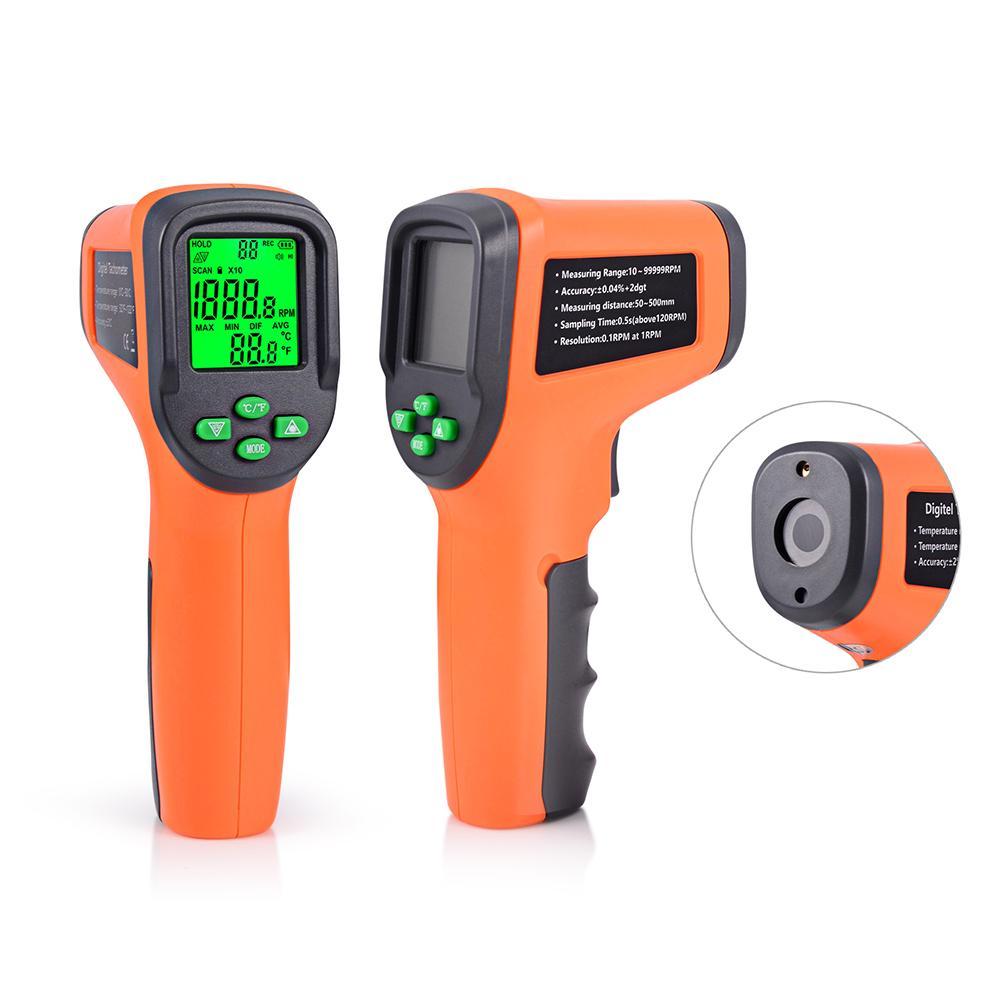 auges 회전 속도계 FOSHIO 회전 속도계 10-99999 RPM 미터 디지털 레이저 계기 비 접촉 광전 자동 회전 속도계 자동차 속도 게이지 SP ...