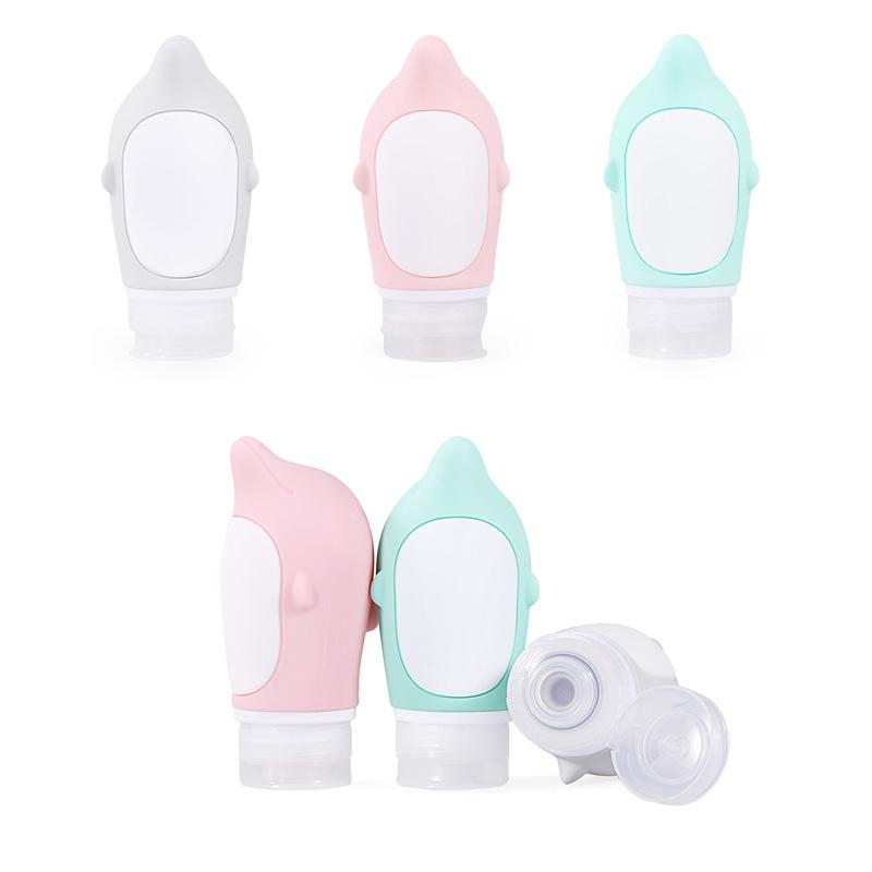 High Quality Packing Bottle Travel Storage Kit Shampoo Lotion Cosmetic Bottles Food Grade Silicone Container 89 Ml