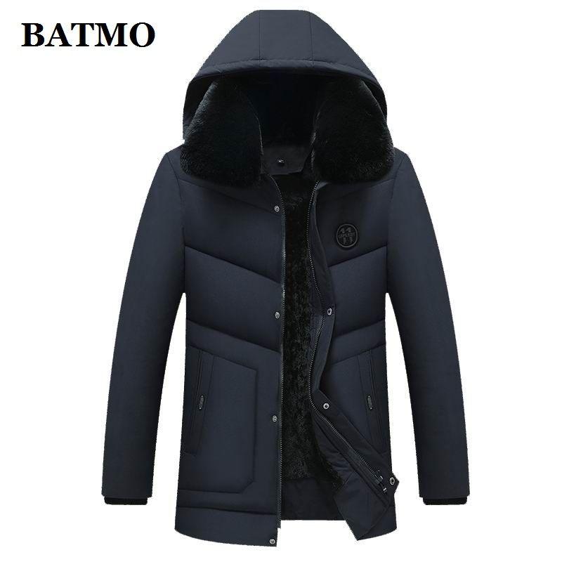 Мужские траншеи Пальто Batmo 2021 Прибытие Зима Высокое Качество Паркас с капюшоном Мужчины, Мужские Куртки Мужчины, 2700