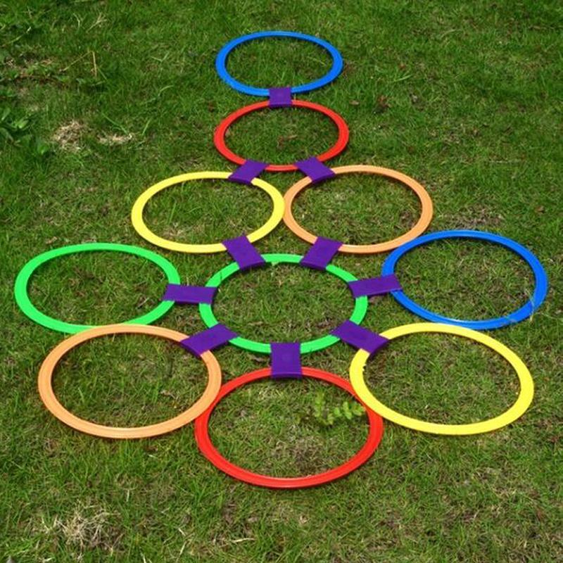 Izgara çocuk duyusal entegrasyon eğitim açık oyuncaklara Renkli çocuk öğretme yardımcı spor oyuncak atlama.