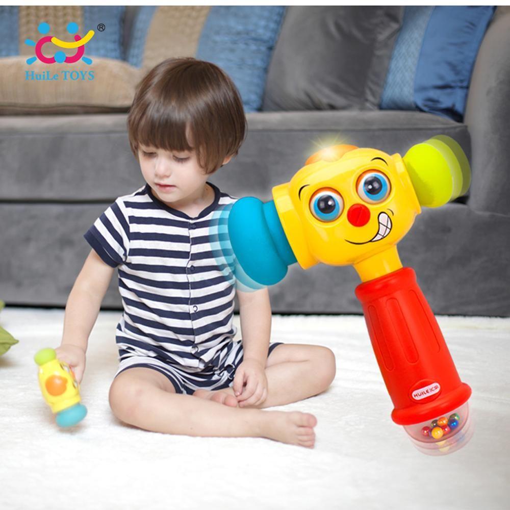 Brinquedos Bebê Criança Brincando Martelo brinquedo com musicais Luzes Brinquedos Educativos Melhorar do bebê Capacidade de Operação 12 meses +