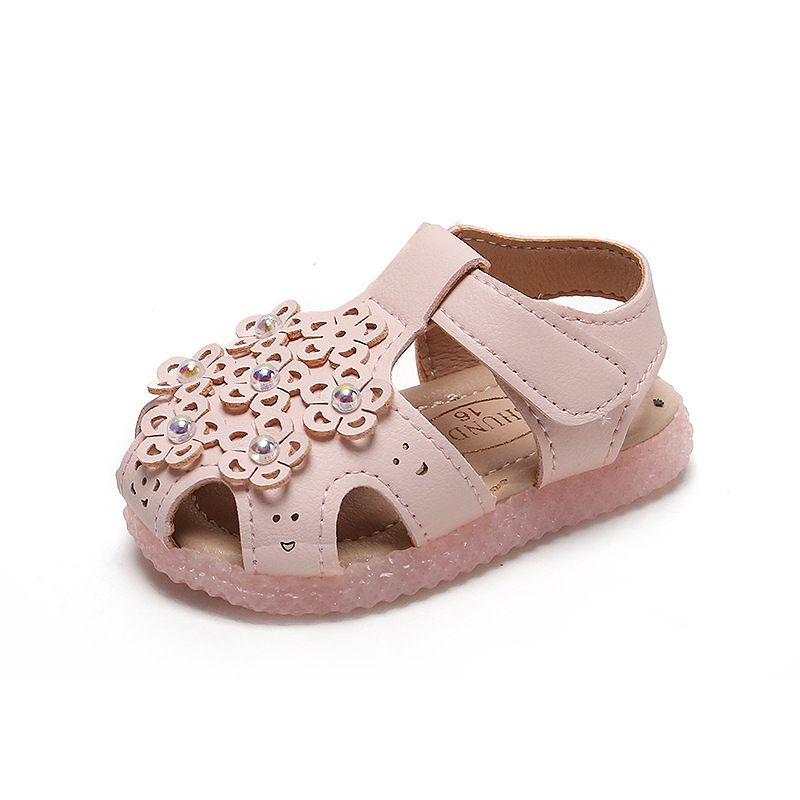 Ayakkabı Walking Pu Üst Bebek Kız Bebek Sandalet Moda Hook ve Döngü Stil Bebek Yumuşak Deri Yenidoğan Bebekler Yeni Düz