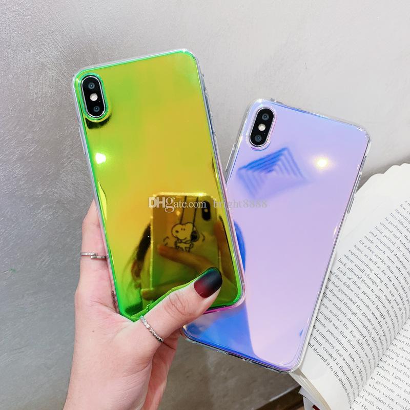 جديد ماكياج مرآة التدرج الإبداعي iphoneXS ماكس قذيفة الهاتف المحمول ل iphoneXR حماية اللون النماذج النسائية كم