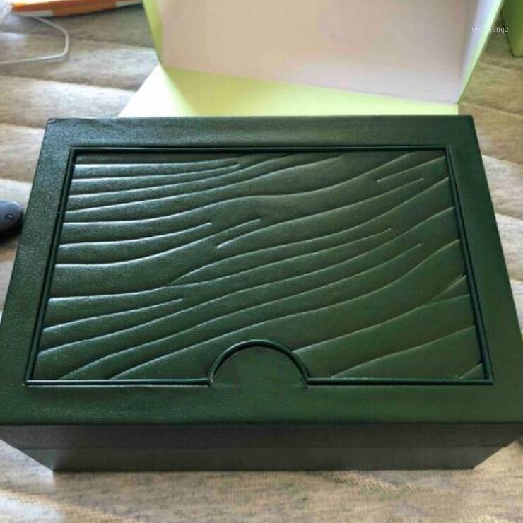 카드 및 논문 인증서 핸드백과 시계 상자 녹색 브랜드 시계 상자 원래는 116,610 116,660 116,710 Watches1을위한 상자