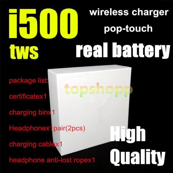 I500 TWS 에어 2 무선 이어폰 PK W1 H1 칩 센서 제어 이러한 무선 이어폰 충전 이어폰 헤드폰 PK I18 I30 I60 I100 I300