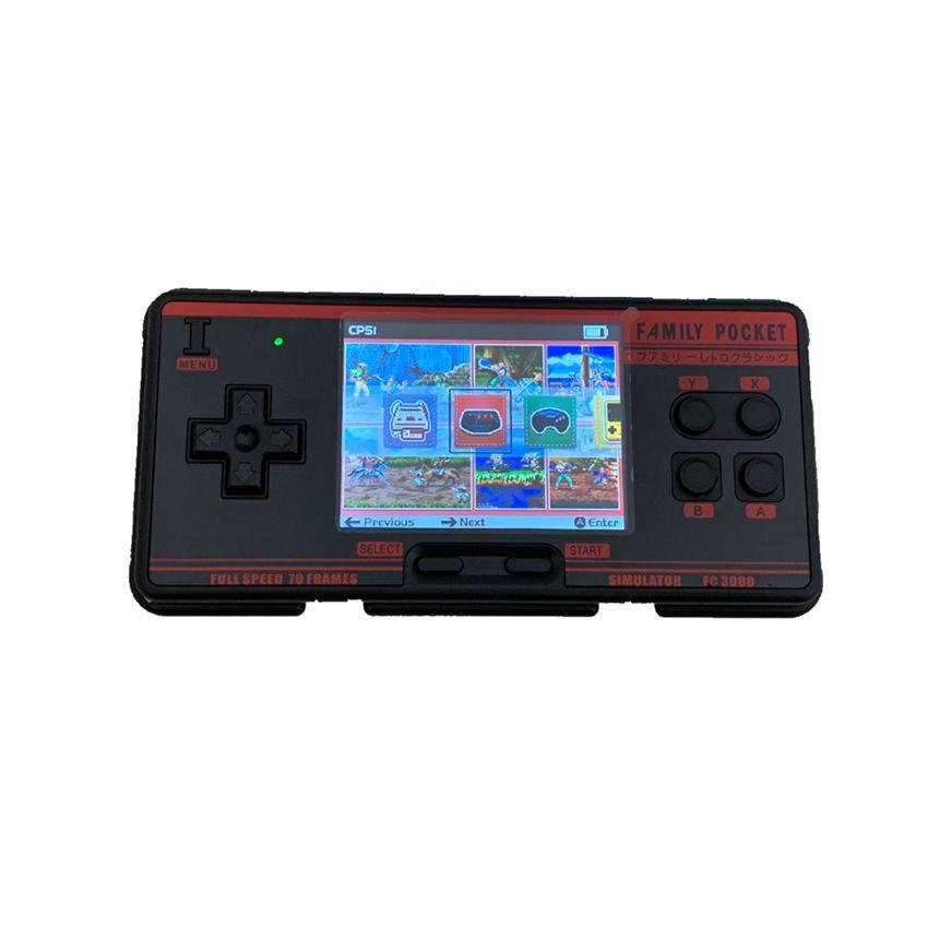 FC CPS1 MD GB SMS GG için FC3000 Classic Taşınabilir Oyun Konsolu Aile Pocket 2GB 1000+ Oyunları HD Ekran TV Çıkışı Taşınabilir Video Oyun Konsolu