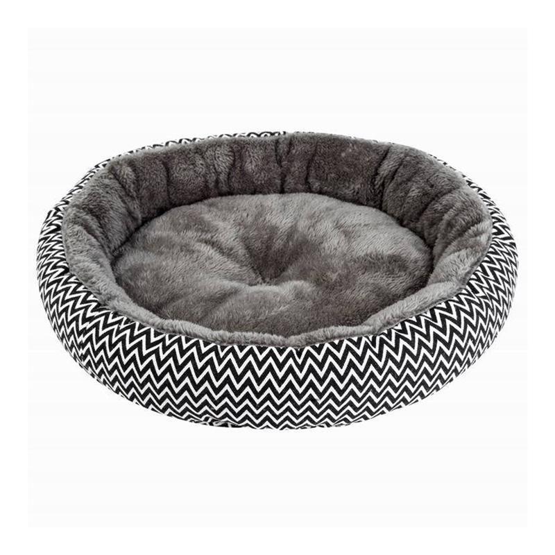 لينة أفخم pawstrip الشتاء الكلب السرير جولة القط جرو وسادة دافئة تشيهواهوا تيدي بيت الكلب كلب صغير السرير للكلاب القط