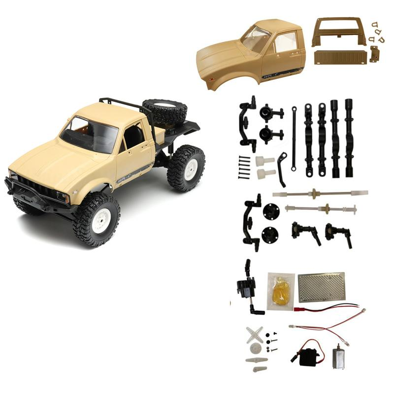 WPL C-14 2.4G 1:16 Four Drive Climber RC Car KIT With Servo Motor DIY Assembly Accessories For Kids Intelligence Gifts Presents