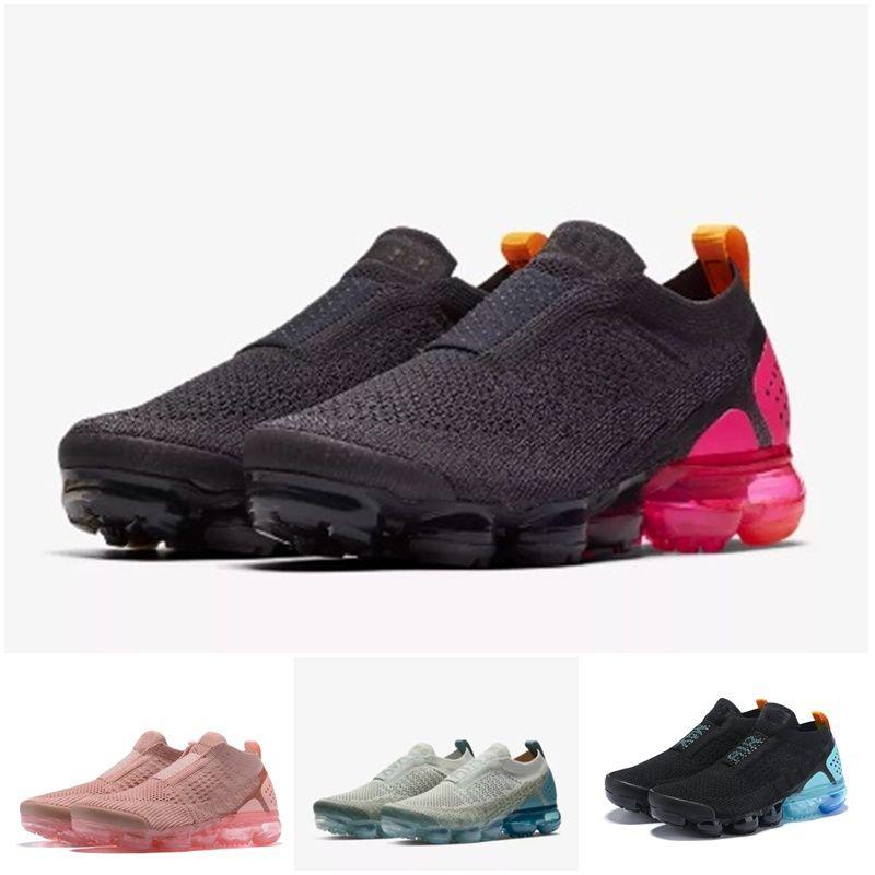 vapormax vapor max air 2019 kissen Moc 2 Laceless 2.0 Laufschuhe Triple Designer Männer Frauen Turnschuhe Athletic Trainer Chaussures größe 5.5-11