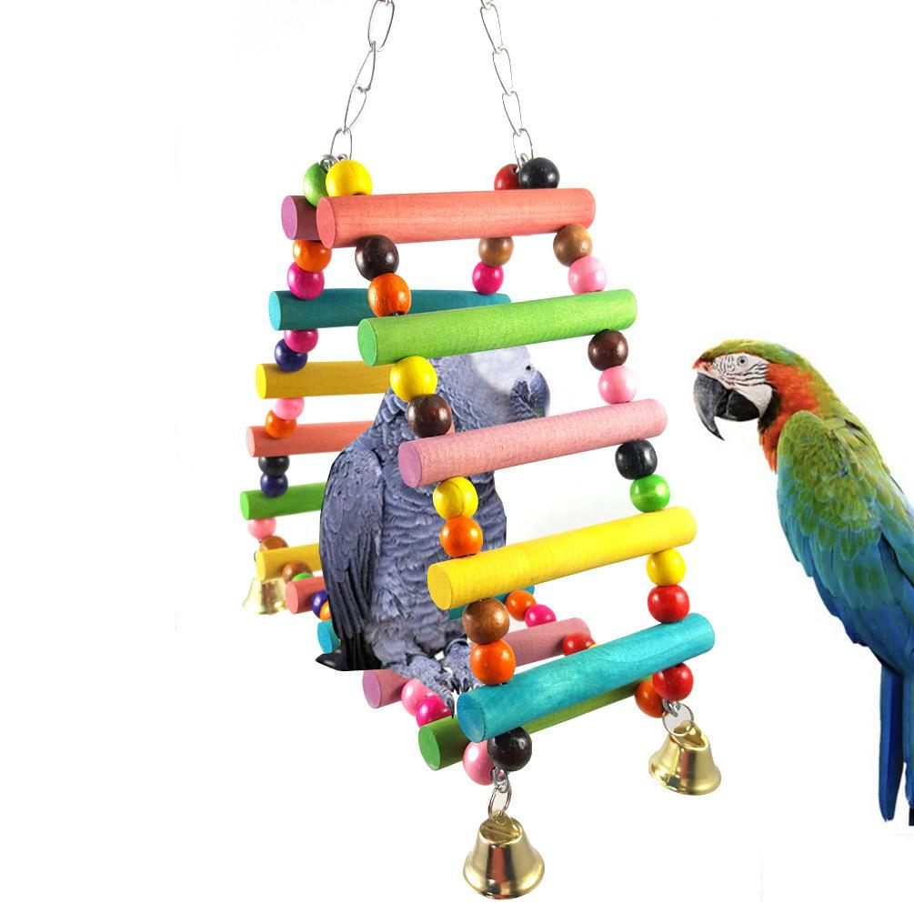 Bird Toys Parrot Articles To Climb Ladder Scaling Ladder Triangle Climb The Ladder Swing Color Pearl River Delta Swing 255g