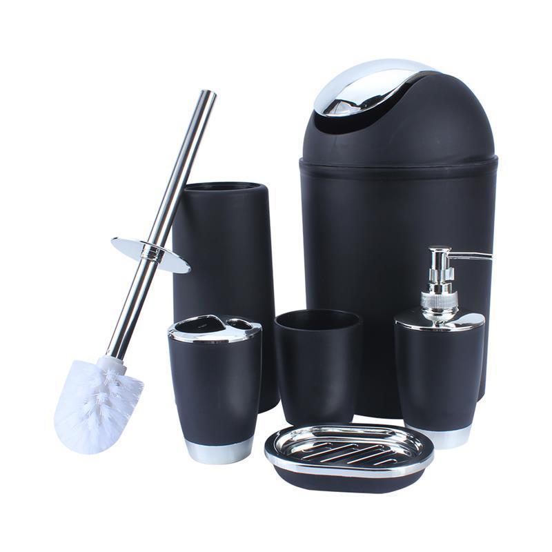 6 В 1 ванной Подставка для зубных щеток Подставка для мыла Держатели дезинфицирующее бутылки Бункеры для туалетной щетки чашки и т.д. комплект принадлежностей 6 цветов