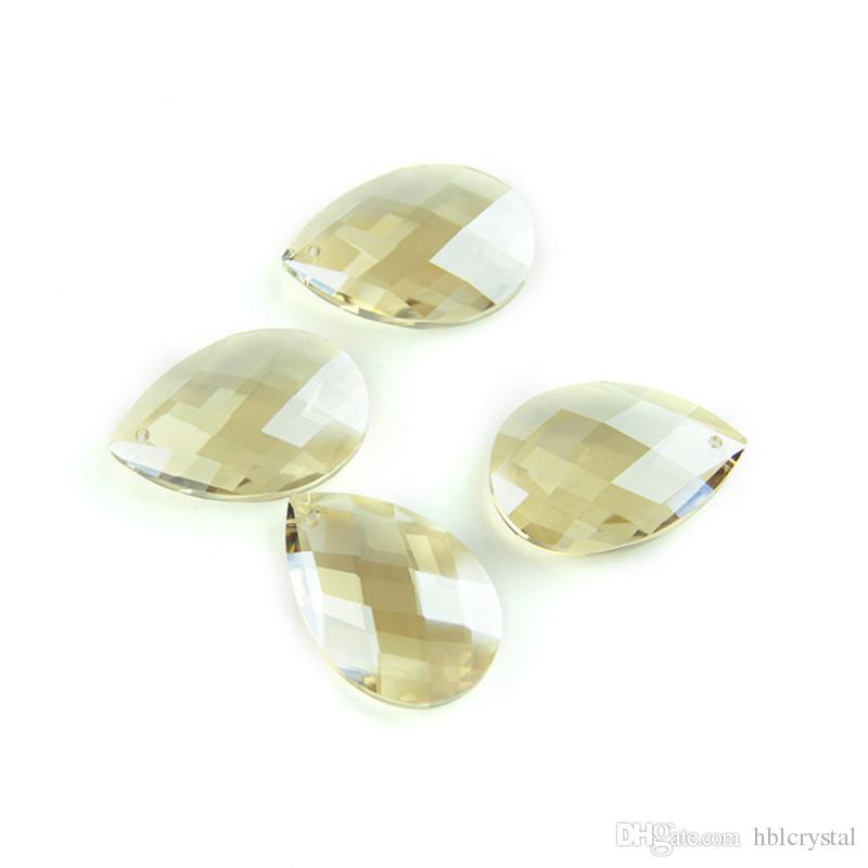 50mm Clear Amber Cognac  Suncatcher Crystal Prisms Crystal Chandelier Parts