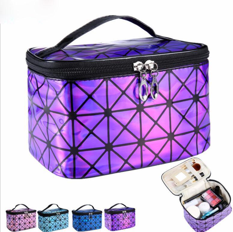 progettista Estetista Necessaire cassoni organizzatore cosmetico del sacchetto di bellezza Vanity scatola di trucco borsa da viaggio da toeletta Wash Pouch per le donne